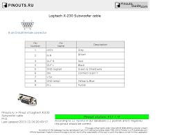 logitech x subwoofer cable pinout diagram com logitech x 230 subwoofer cable diagram