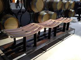 furniture made from wine barrels. Bench Made From Reclaimed Wine Barrel Slats Furniture Barrels S