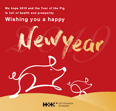 Lunar new year greetings is: Happy Chinese New Year 2019 Pig Gif