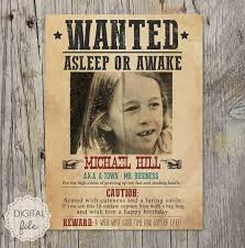Criminal Wanted Poster Mesmerizing Wanted Poster Wild West Theme Personalized Printable Etsy
