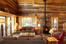 Wooden Cabin Living Room