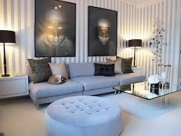 ... Living Room Cool Decorating Ideas For Large Wall Behind Couch With  Black Table Lamp Shades Decor ...