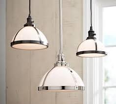 shade pendant lighting. PB Classic Pendant With Milk Glass Shade Lighting