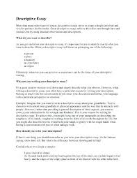 Examples Of Descriptive Essay About A Place Descriptive Writing Essays Examples Wlcolombia