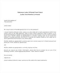 Ideas Of 8 Rental Reference Letter Templates Free Sample Example