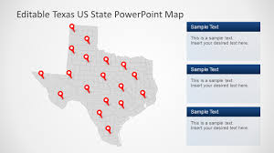 Usa Map For Powerpoint Texas Us State Powerpoint Map