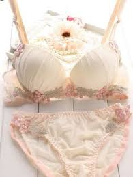 push up deep V-neck thin <b>sweet lace embroidery</b> sexy bra set young ...