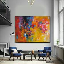 colorful extra large wall art abstract