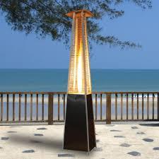 black living flame patio heater