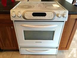 kitchen aid electric range white slide in range stove oven used kitchenaid superba smooth top electric kitchen aid electric range