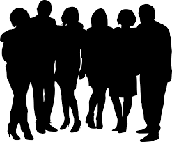 group of people clipart black and white. Interesting Black Group Of People Silhouette At GetDrawingscom  Free For Personal  Clip And Clipart Black White P