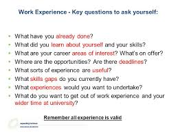 Questions To Ask On Work Experience Getting Work Experience Craig Phillips Careers Consultant