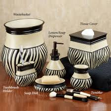 Zebra Bathroom Rug Bathroom Accessory Sets Touch Of Class