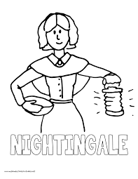 History Coloring Pages Volume 4 Florence Nightingale And Kids