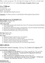 Hair Stylist Resume Simple Hair Stylist Resume Objective Resume Ideas