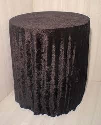 velvet black table cloth