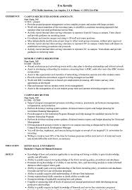 Campus Recruiter Sample Resume Campus Recruiter Resume Samples Velvet Jobs 1