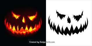 Scary Pumpkin Carving Patterns Simple Scary Halloween Pumpkin Stencils 48 Best Halloween Scary Pumpkin