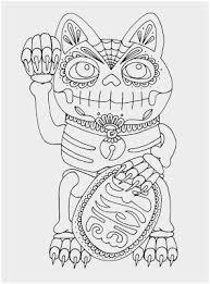 Day Of The Dead Skull Coloring Page Cute Calavera Sugar Skull