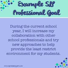 setting professional goals as an slp natalie snyders slp here s another example goal