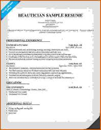 beautician cv sample