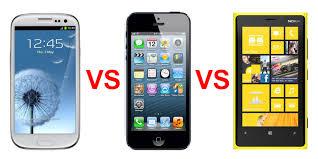 nokia lumia 920 vs iphone 5 vs samsung galaxy s3. apple iphone 5 vs nokia lumia 920 samsung galaxy siii \u2013 clash of the titans vs iphone s3 3