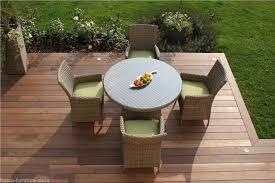 atlanta baby rattan outdoor garden furniture 4 seat grey round dining table set