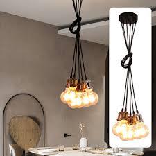 6 heads e27 industrial pendant light