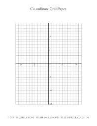 Coordinate Grid Quadrant 1 Math Blank Grid Paper Numbered Coordinate