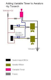 boat aerator wiring diagram boat image wiring diagram one aerator timer for multiple aerators wiring schematic included on boat aerator wiring diagram