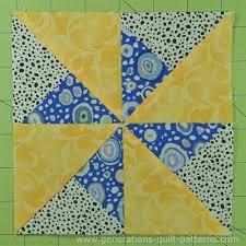 Double Pinwheel Quilt Block: 3 , 4 , 5 , 6  and 8  block sizes &  Adamdwight.com