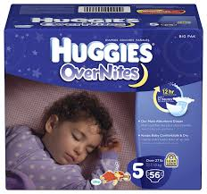 Huggies Overnites Diapers Size 5 52 Ct