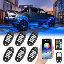 Bright Rock Lights Mustwin Rgb Led Rock Lights 90 Leds Multicolor Neon Underglow Waterproof Music Lighting Kit With App Rf Control For Jeep Off Road Truck Car Atv Suv