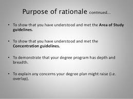 planning and writing your rationale essay fall  4 purpose of rationale continued