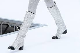 chanel glitter boots. chanel glitter boots l