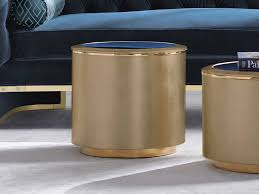 Gold drum table should always look refreshing, unique and elegant, as that is where you would sit for a fresh cup of coffee and feel rejuvenated. Caracole Classic Auric Gold Bullion 18 Wide Round Lobby Cocktail Table Caccla419401