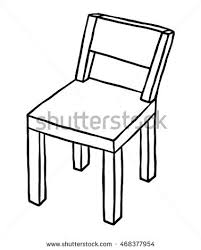 chair clipart black and white. wooden chair / cartoon vector and illustration, black white, hand drawn, sketch clipart white h