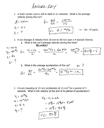 worksheet 3 kinematics equations 1 a a snowmobile on a frozen