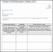 Video Storyboard Template | Cvfree.pro