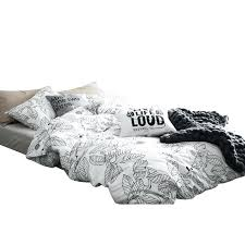 modern duvet covers white and black leave leaf print bed linen bedding set modern duvet modern duvet covers