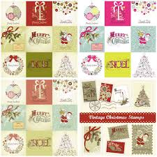 vintage christmas cards vector free