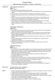 Library Technician Resume Library Technician Resume Samples Velvet Jobs 1