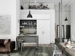 Industrial Wall Decor Elegant Modern Industrial Kitchen Design With White Wall
