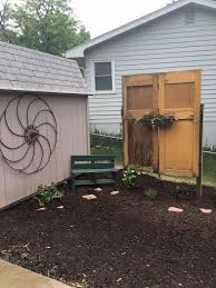 old doors give new life to backyard gardening with alude gardening center cheyenne gardening wi