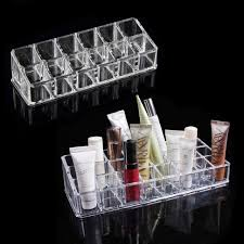 Lipstick Display Stands 100 Trapezoid Clear Acrylic Makeup Display Lipstick Stand Case 35