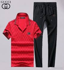 Polo Sweatpants Size Chart 18ss Brand Clothing Men Sets Fashion Spring Summer Casual Suit Polo T Shirt Sweatpants Mens Clothing 2 Pieces Sets Slim Tracksuit