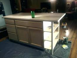kitchen island from stock cabinets how do you build a kitchen island build movable kitchen island