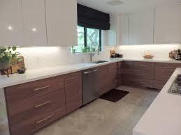 mid century modern ikea kitchen cabinets