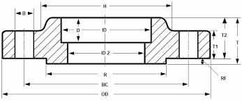 Socket Weld Flange Dimensions Asme B16 5 Projectmaterials