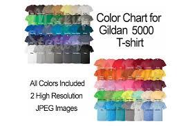 T Shirt Color Chart Color Chart For Gildan 5000 T Shirt Digital Color Chart